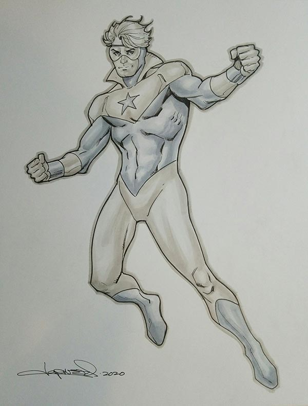 Booster Gold by Aaron Lopresti