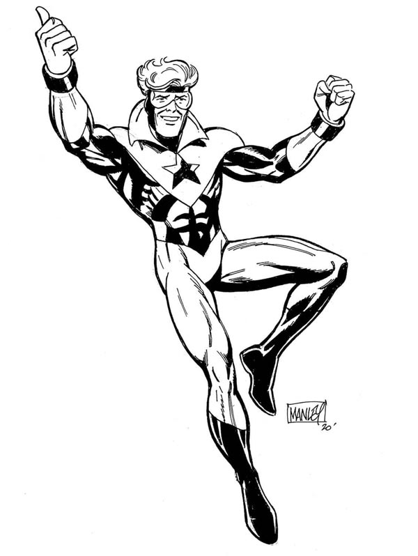 Booster Gold by Mike Manley for Cort Carpenter