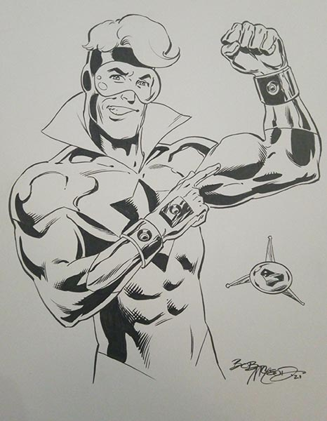 Booster Gold by Bob McLeod for Cort Carpenter