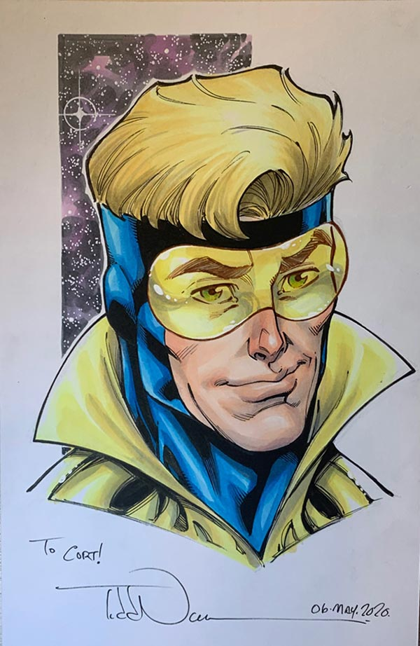 Booster Gold by Todd Nauckfor Cort Carpenter
