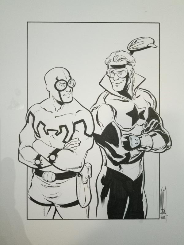 Booster Gold by Mike Norton for Cort Carpenter