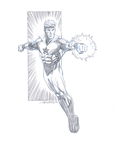 Booster Gold by Pat Olliffe