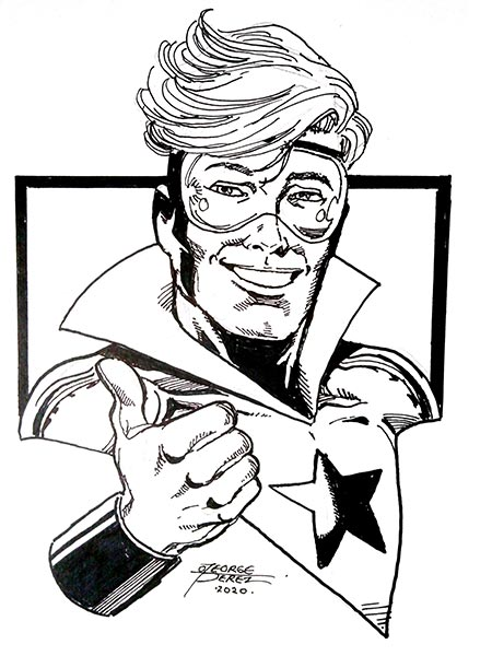 Booster Gold by George Perez for Cort Carpenter