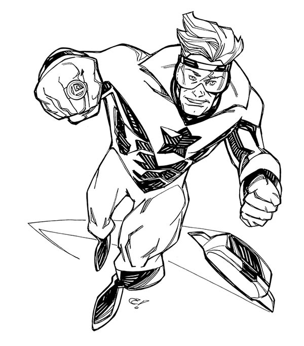 Booster Gold by Craig Rousseau for Cort Carpenter