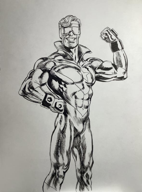 Booster Gold by Joe Rubinstein for Cort Carpenter