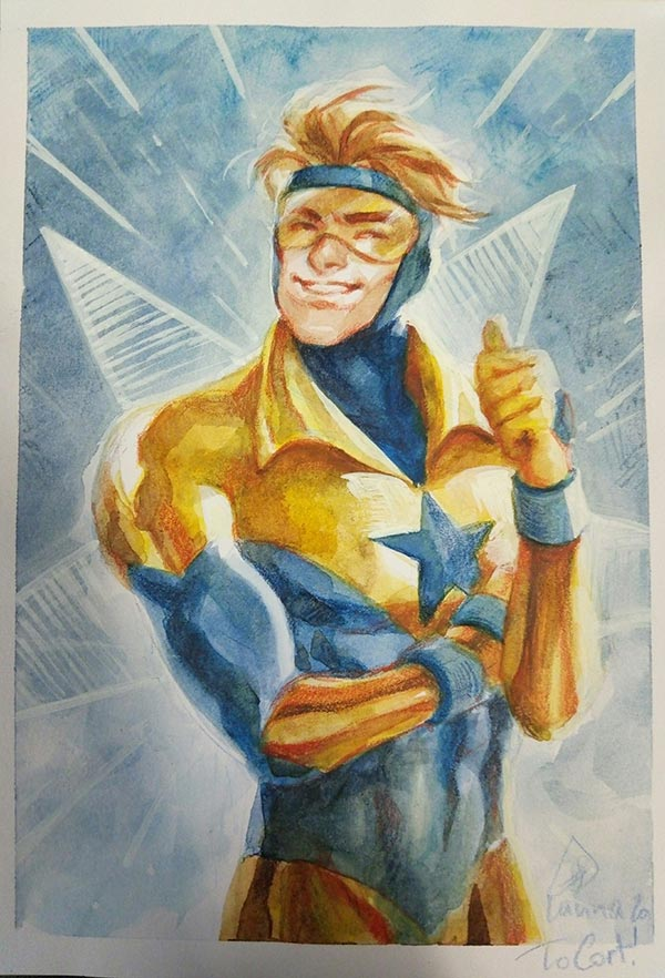 Booster Gold by Lanna Souvanny