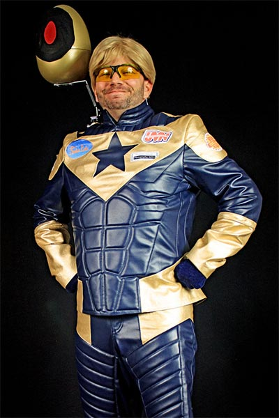 Booster Gold costume by MPBoruff