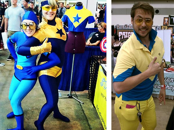 Booster Gold cosplayers at Baltimore Comic-Con 2012