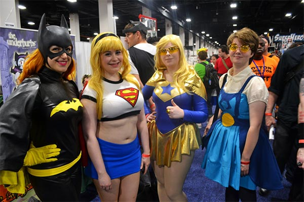 Batgirl, Supergirl, Booster Girl, Blue Beetless