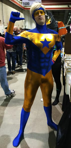 Booster Gold cosplayer at C2E2 by Herbert Fung