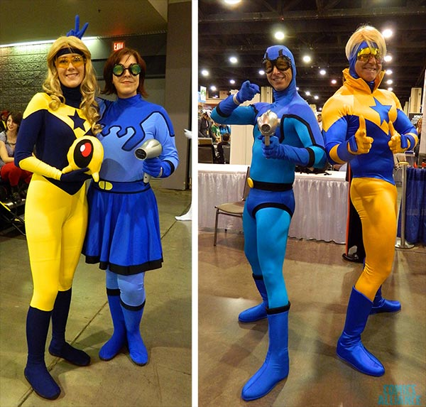 Blue and Gold cosplay at Charlotte 2014, pic by Comics Alliance