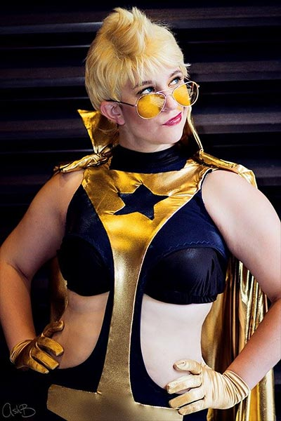 Booster Gold cosplay by Bettie Bloodshed