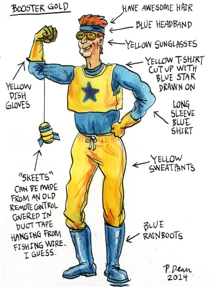 Booster Gold cosplay idea by Patrick Dean