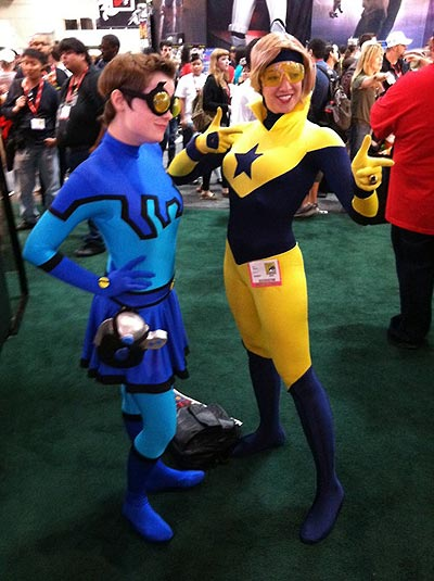 Nicole as Booster Gold