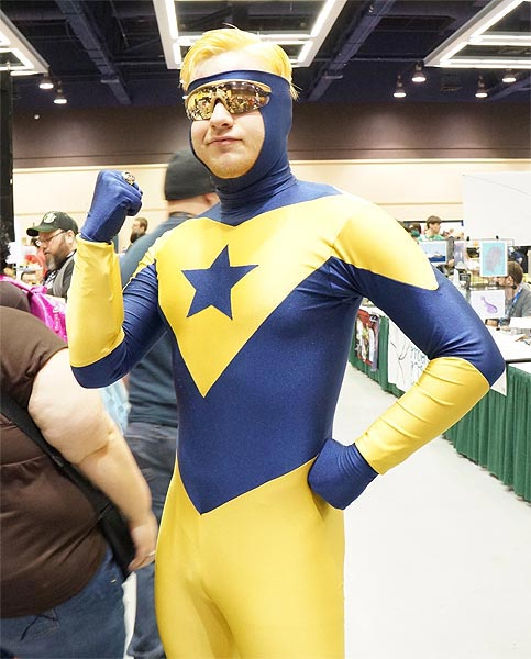Booster Gold cosplayer photo by Tony Guerrero