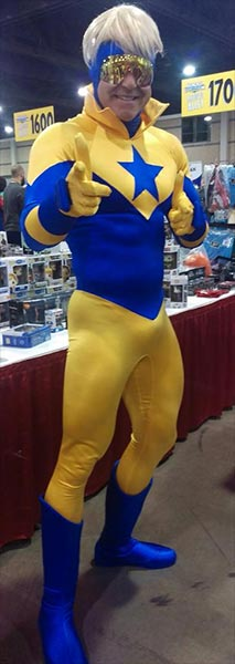Booster Gold at Heroes Convention Charlotte 2015