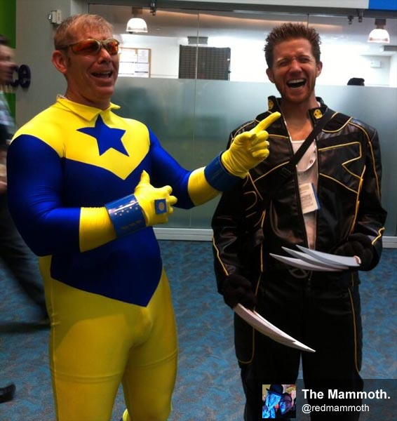 Booster Gold cosplay at Comic-Con International 2013 by @redmammoth