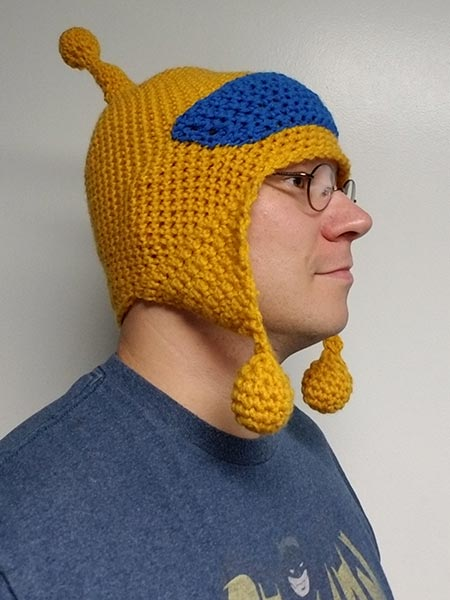 My own Skeets knit hat by Shanay Cobb