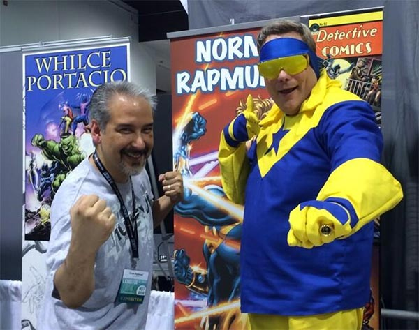 Norm Rapmund with Booster Gold
