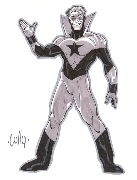 Booster Gold sketch by Cully Hamner by way of jacklazer
