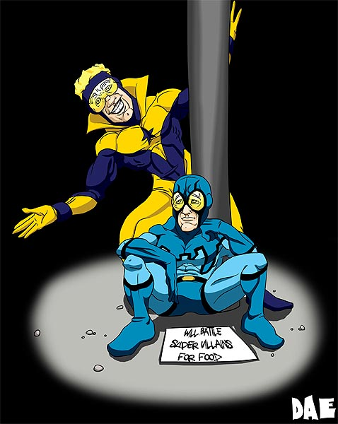 Booster Gold and Blue Beetle by Daerave