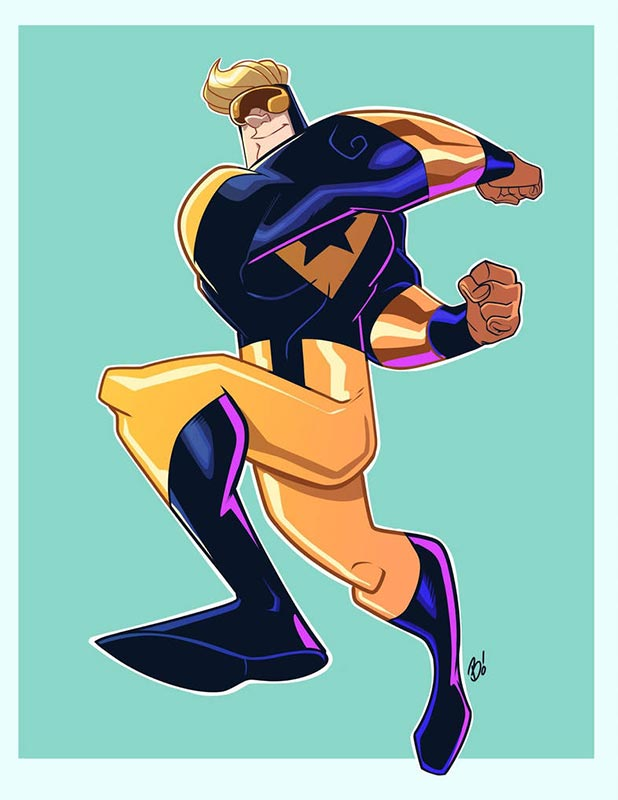 Booster Gold by Dave Bardin from DeviantArt.com