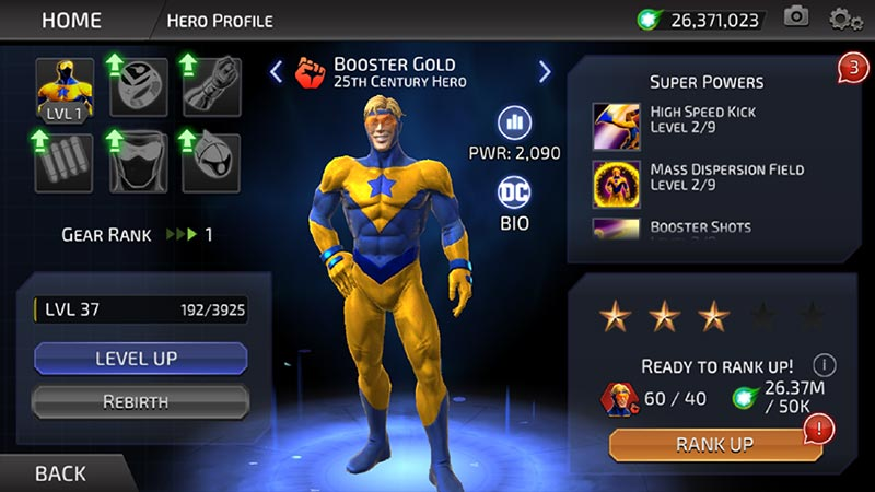 Booster Gold in the DC Legends game
