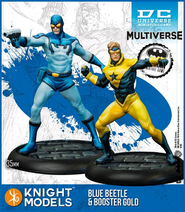 Knight Models DC Universe Miniature Game Blue Beetle & Booster Gold