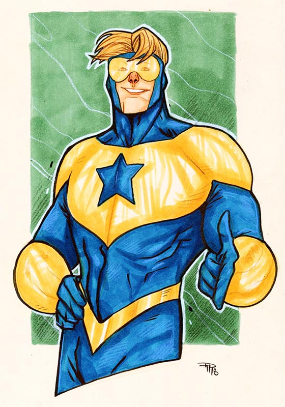 Booster Gold by Denis Medri (DenisM79) from DeviantArt.com
