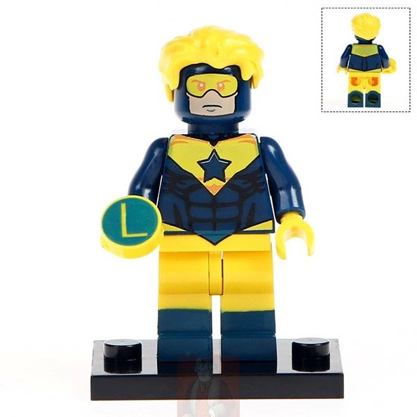 Booster Gold minifig by Bilbobaggins7919 on ebay.com