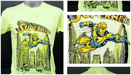 Superhero t-shirt featuring Booster Gold on eBay