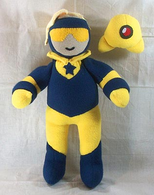 Booster Gold stuffed toy by Handmade Stuffs