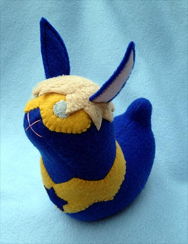 Booster Gold bunny by The Stitchy Button on Etsy.com