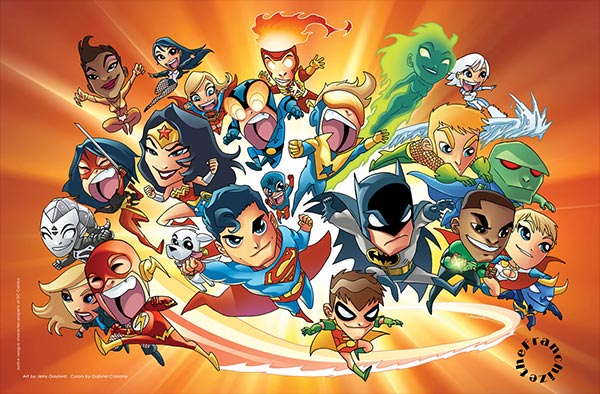 Justice League Chibi Print by Jerry Gaylord