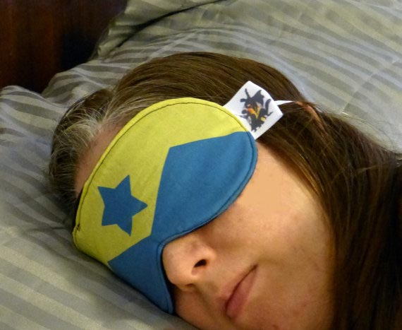 Booster Gold sleep mask by TheGeekForge