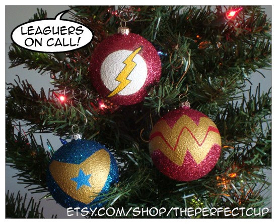 Booster Gold ornaments from ThePerfectCup on etsy.com