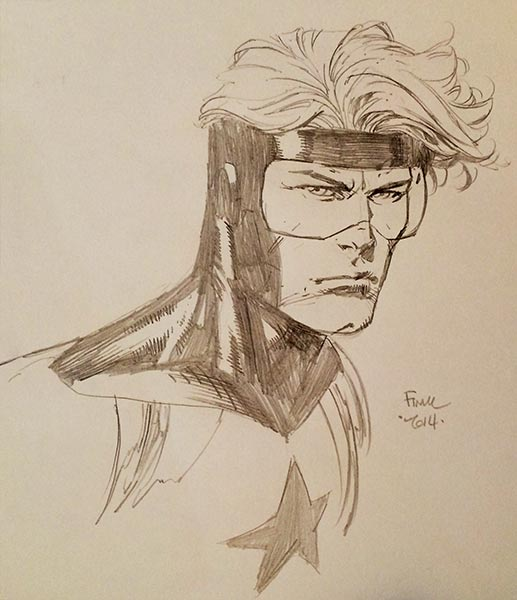 Booster Gold by David Finch, courtesy Herbert Fung