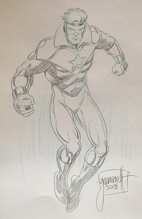 Booster Gold commission by Tom Grummett (courtesy Herbert Fung)