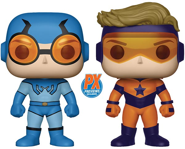 Previews Exclusive Funko Pop! Blue Beetle and Booster Gold two-pacek