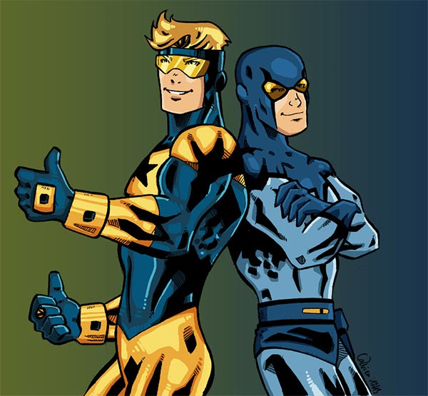 Booster Gold and Blue Beetle by Gadrien at DeviantArt.com