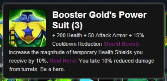 Booster Gold's Power Suit at Dawnbase.com