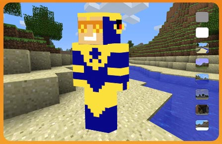 Booster Gold Minecraft Skin with Skeets