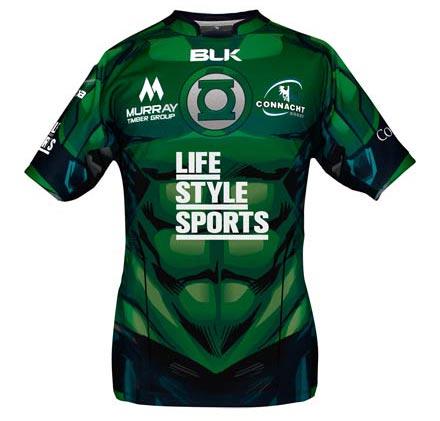 Connacht Rugby Green Lantern jersey