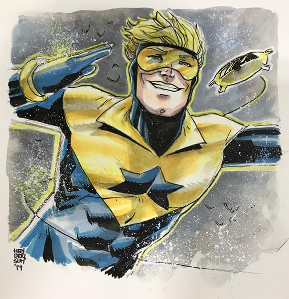 Booster Gold by Mike Henderson (posted to ComicArtFans by Michael White