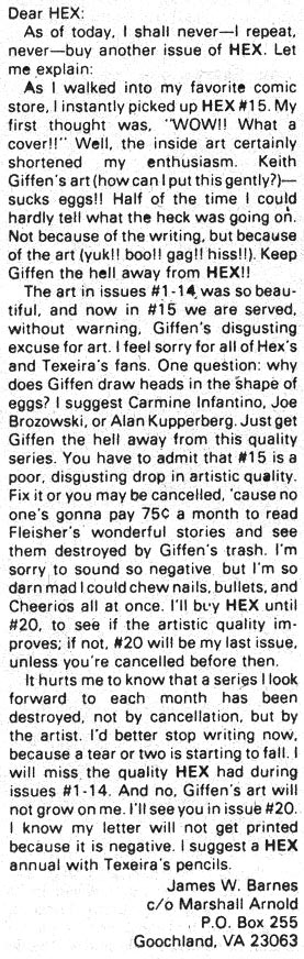 Giffen's art (how can I put this gently?) -- sucks eggs!