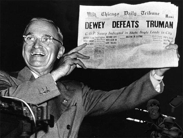 Truman Defeats Dewey on November 2, 1948