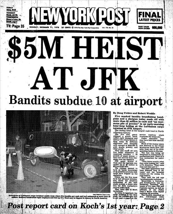 $5M Heist at JFK