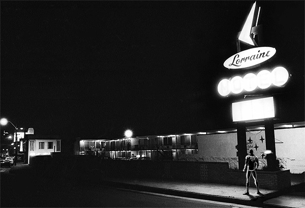 Lorraine Motel, Memphis, Tennessee, April 4, 1968, photo by Henry Groskinsky