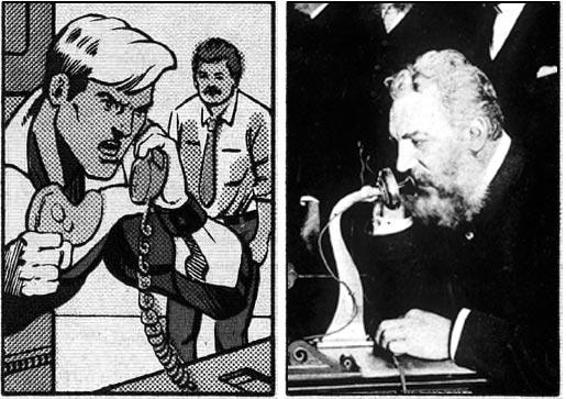 Booster Gold prank calls Alexander Graham Bell on March 10, 1876