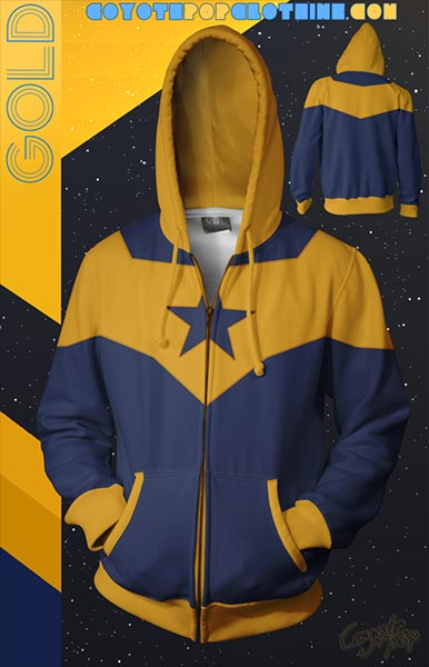 Booster Gold hoodie by Coyote Pop Clothing